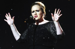 adele performing, someone, like, you, music