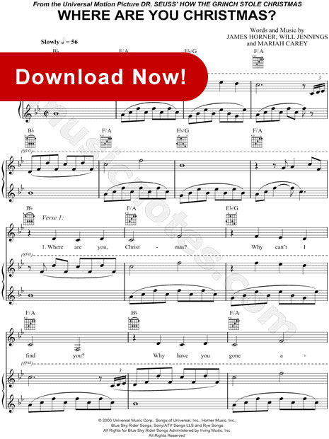 faith hill, where are you christmas sheet music, score, piano, notes, download